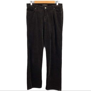 Christopher Blue Brown Cords Stretch Pants Size 8